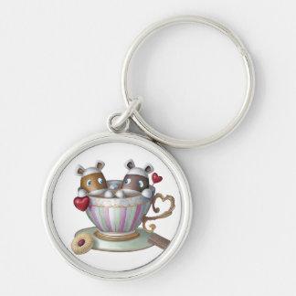 Porte-clés Une tasse de thé et une tranche de Bake® - ma