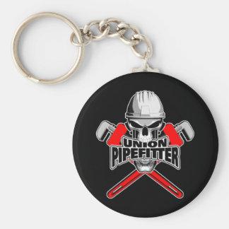 Porte-clés Union Pipefitter : Crâne et clés