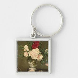 Porte-clés Vase à Manet | de pivoines sur un petit piédestal,