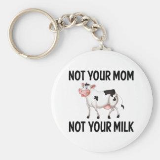Porte-clés Végétalien drôle, vache végétarienne/citation de
