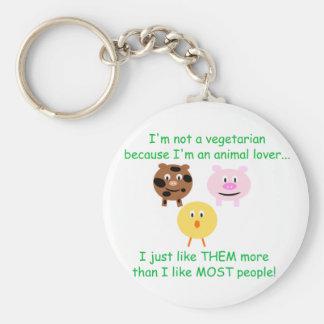 Porte-clés Végétarien pas un porte - clé d'amoureux des