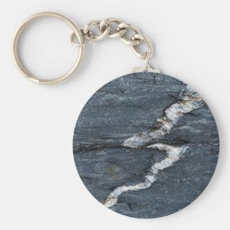 Porte-clés Veines de calcite en schistes noirs tectonized