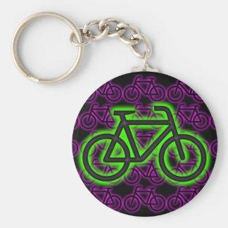 Porte-clés Vélo, bicyclette, néon, vert, rose, pourpre