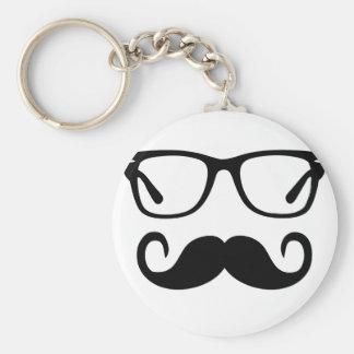 Porte-clés Verres de hippie et moustache de guidon