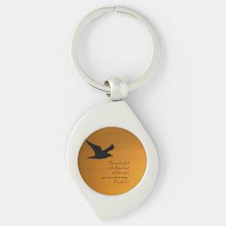 Porte-clés Vers jaune de bible de foi d'oiseau de ciel de