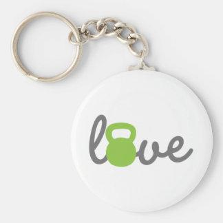 Porte-clés Vert de Kettlebell d'amour