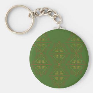 Porte-clés Vert d'eco d'elemens de conception