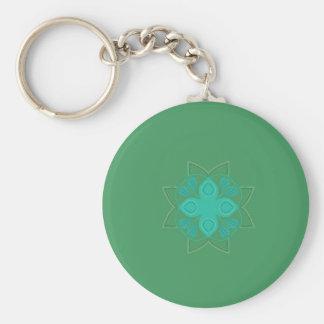Porte-clés Vert Eco de mandala de conception