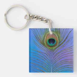 Porte-clés Verticale de plume de paon