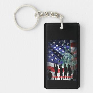 Porte-clés Vétérans de merci pour votre service à notre pays