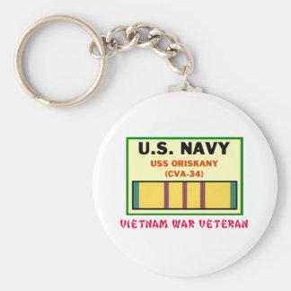 Porte-clés Vétérinaire de guerre de CVA-34 ORISKANY Vietnam