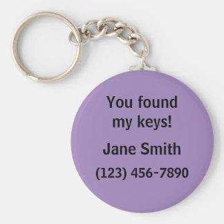 Porte-clés Veuillez renvoyer le porte - clé perdu de clés