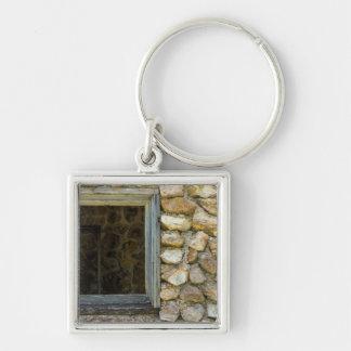 Porte-clés Vieille fenêtre de mur de roche