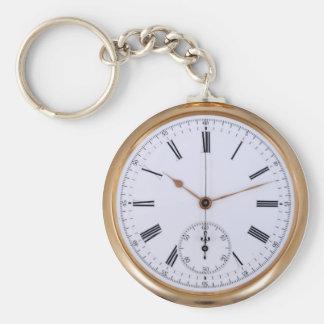 Porte-clés Vieille montre de poche d'antiquité d'horloge