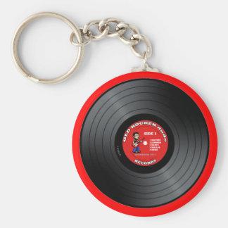 Porte-clés Vieux porte - clé de disque vinyle de type de