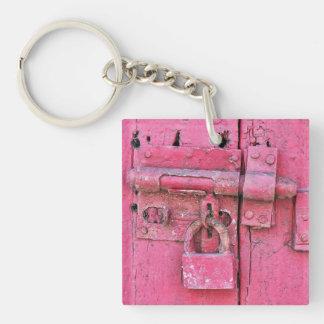 Porte-clés Vieux/vintage porte - clé rose de serrure