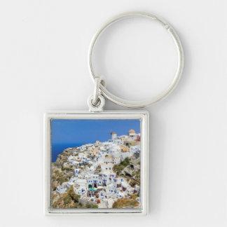 Porte-clés Village d'Oia sur l'île de Santorini, du nord,