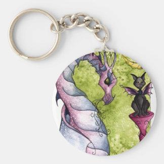 Porte-clés Violette et obsidien