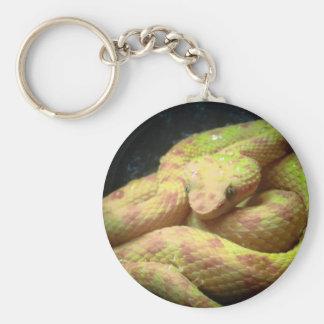 Porte-clés Vipère jaune vibrante