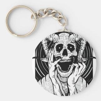 Porte-clés visage de diable