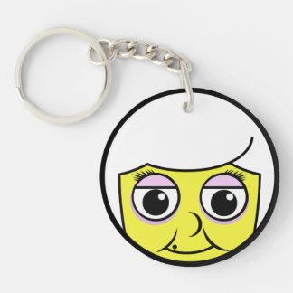 Porte-clés Visage de grand-maman
