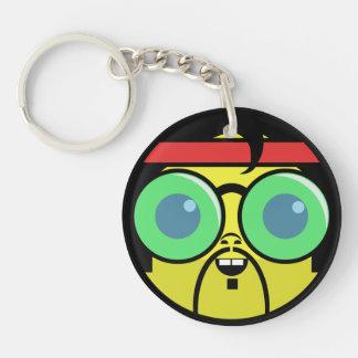 Porte-clés Visage de hippie