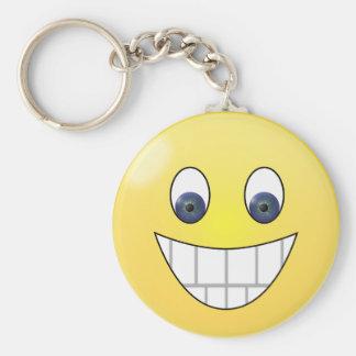 Porte-clés Visage de sourire d'yeux bleus