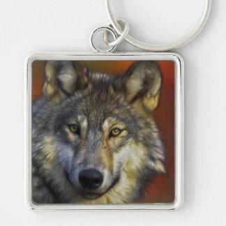 Porte-clés Visage d'une photo de loup