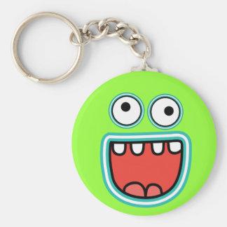 Porte-clés Visage idiot de smiley de grimace de monstre