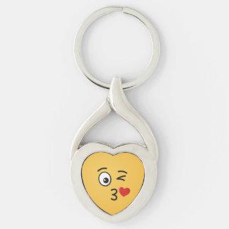 Porte-clés Visage jetant un baiser