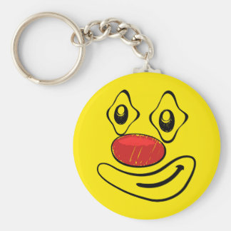 Porte-clés Visage maladroit de smiley de jaune de clown