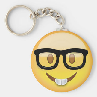 Porte-clés Visage nerd Emoji