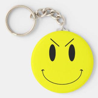 Porte-clés Visage souriant mauvais jaune de KRW