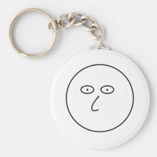 Porte-clés Visage vide - décorez des marqueurs secs