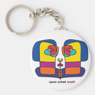 Porte-clés visages reliés de visage de conception d'artiste
