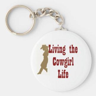 Porte-clés Vivant la vie de cow-girl