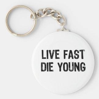 Porte-clés Vivez rapidement, mourez des jeunes