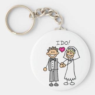 Porte-clés Voeux d'échange de jeunes mariés