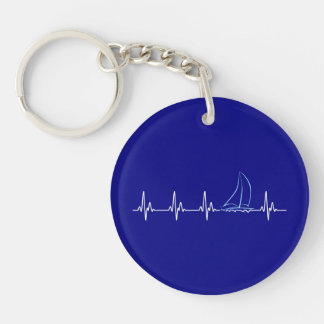Porte-clés Voilier drôle de battement de coeur de navigation