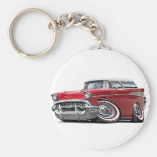 Porte-clés Voiture 1957 Rouge-Blanche de nomade de Chevy