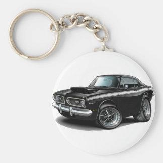 Porte-clés Voiture 1967-69 Noir-Blanche de barracuda