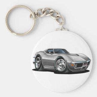 Porte-clés Voiture 1968-72 argentée de Corvette