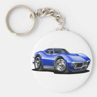 Porte-clés Voiture 1968-72 de bleu de Corvette