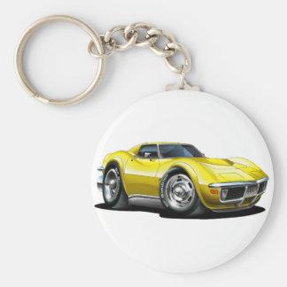 Porte-clés Voiture 1968-72 jaune de Corvette