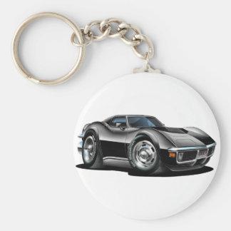 Porte-clés Voiture 1968-72 noire de Corvette