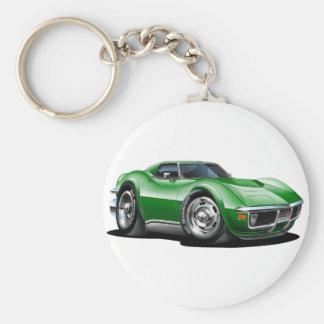 Porte-clés Voiture 1968-72 verte de Corvette