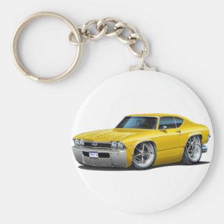 Porte-clés Voiture 1968 jaune de Chevelle