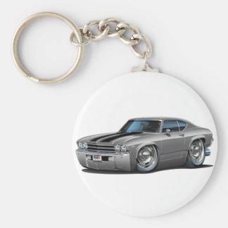 Porte-clés Voiture 1969 Argent-Noire de Chevelle