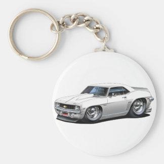 Porte-clés Voiture 1969 de blanc de Camaro solides solubles