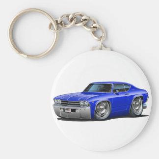 Porte-clés Voiture 1969 de bleu de Chevelle